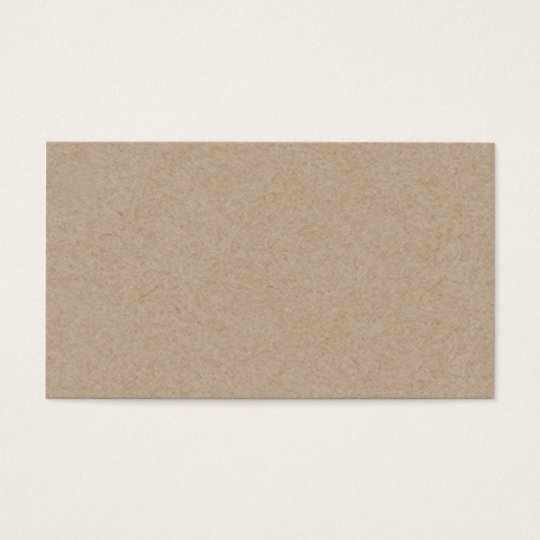 Brown Kraft Paper Background Printed Business Card | Zazzle