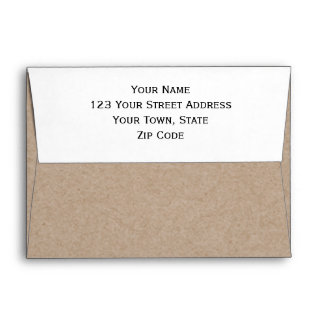Brown Kraft Paper Background Printed Envelope