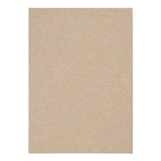 "Brown Kraft Paper Background Printed 5"" X 7"" Invitation Card"