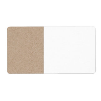 Brown Kraft Paper Background Printed Shipping Label