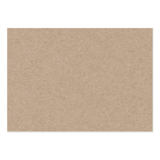 Brown Kraft Paper Background Printed Large Business Cards (Pack Of 100)