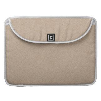 Brown Kraft Paper Background Printed Sleeve For MacBook Pro