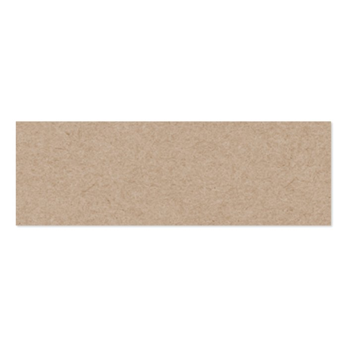 Brown kraft paper background printed mini business card for Brown paper business cards