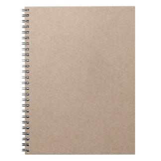 Brown Kraft Paper Background Printed Notebook