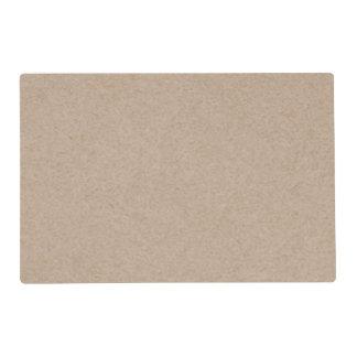 Brown Kraft Paper Background Printed Laminated Placemat