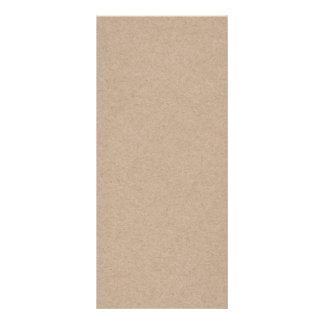 Brown Kraft Paper Background Printed Rack Card