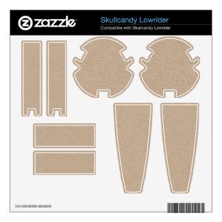 Brown Kraft Paper Background Printed Skullcandy Skins