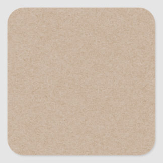 Brown Kraft Paper Background Printed Square Sticker
