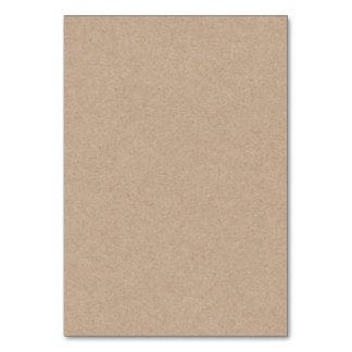 Brown Kraft Paper Background Printed Table Cards
