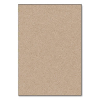 Brown Kraft Paper Background Printed Table Cards