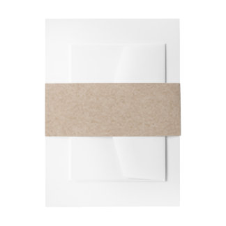 Brown Kraft Paper Background Printed Invitation Belly Band