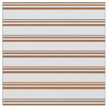 [ Thumbnail: Brown & Lavender Lines/Stripes Pattern Fabric ]