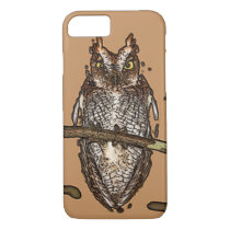 BROWN LAYER OWL Phone 8/7, iPhone 8/7 Case