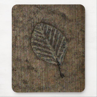 Brown Leaf fossil Mouse Pad