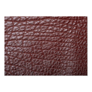 """Brown leather 5"""" x 7"""" invitation card"""