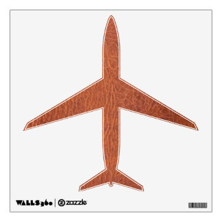 Brown leather airplaine wall sticker