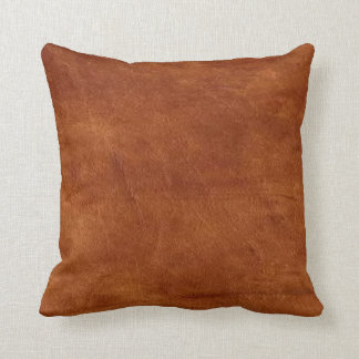 Brown Leather American MoJo Pillow