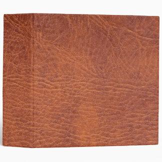 Brown leather 3 ring binders