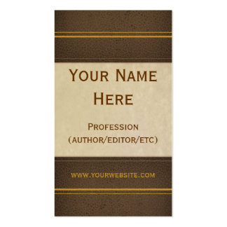 Brown Leather Book Business Card