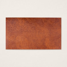 Brown Leather Business Card at Zazzle