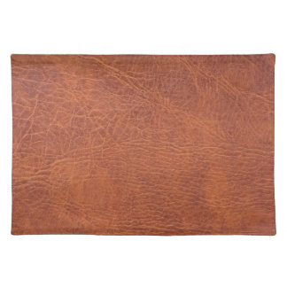 Brown leather cloth placemat