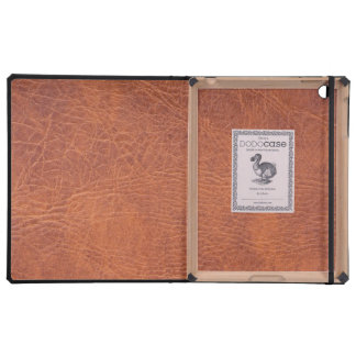 Brown leather cover for iPad