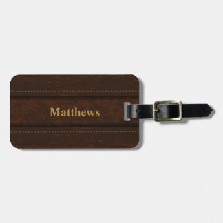 Brown Leather Design Look | Personalize Bag Tag