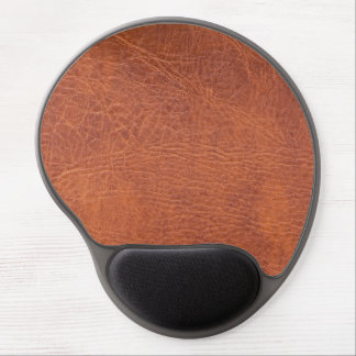 Brown leather gel mousepads