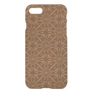 Brown Leather Geometric Pattern