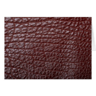 Brown leather greeting card