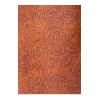 Brown leather 3.5x5 paper invitation card