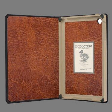 Brown leather iPad mini case