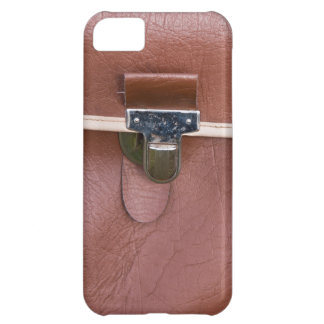 Brown leather iPhone 5 case