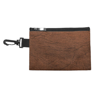 Brown Leather Look Accessory Bag