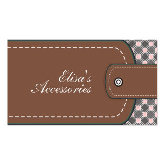 Brown leather look and pattern custom Double-Sided standard business cards (Pack of 100)