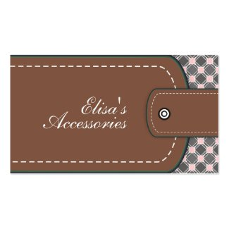 Brown leather look and pattern custom business card template