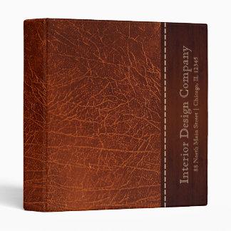 Brown leather look binder