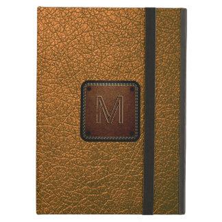 Brown leather look brown tag iPad air cases