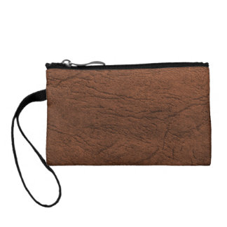 Brown Leather Look Coin Purse