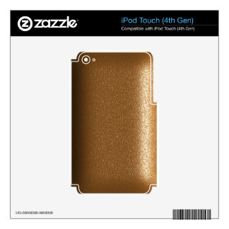 Brown Leather Look Electronic Skins iPod Touch 4G Decals