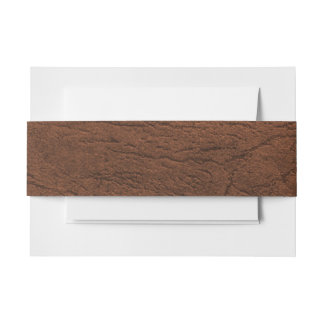 Brown Leather Look Invitation Belly Band