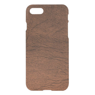 Brown Leather Look iPhone 7 Case
