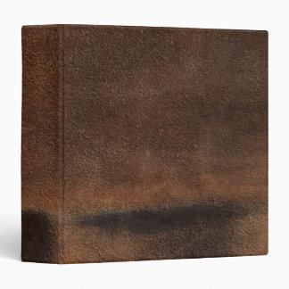 Brown Leather Look-Like Coat Binder