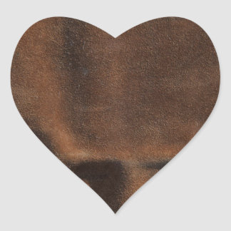Brown Leather Look-Like Coat Heart Sticker