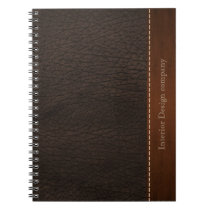 Brown leather look notebook