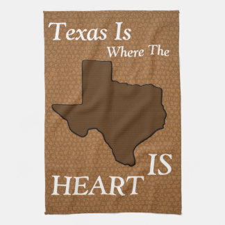 Brown Leather Look Texas Kitchen Towel