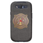 Brown leather maltese  firefighting cross samsung galaxy s3 case