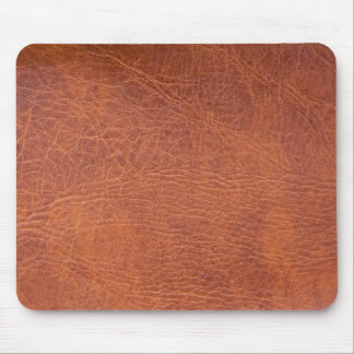 Brown leather mousepad