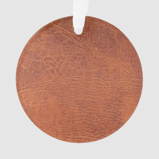 Brown leather ornament