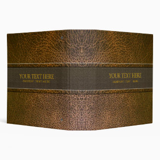 Brown Leather Pattern-Template Binder
